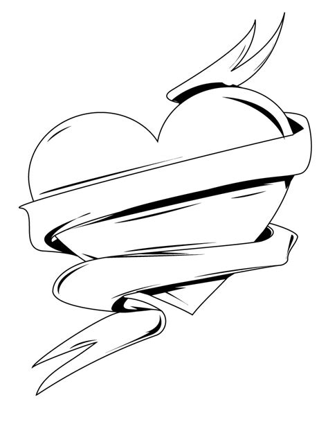 coloring pages of love hearts free printable heart coloring pages for kids