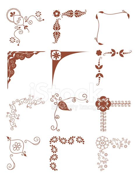 mehndi corners vector stock vector freeimages com