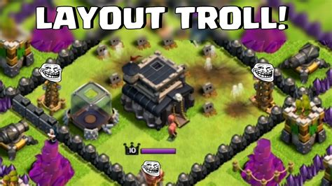layout troll cv 9 layout troll cv 9 clash of clans heyarthur youtube