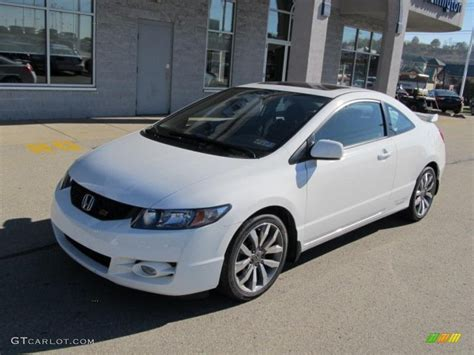 taffeta white 2009 honda civic si coupe exterior photo
