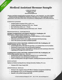 medical assistant resume sample amp writing guide resume