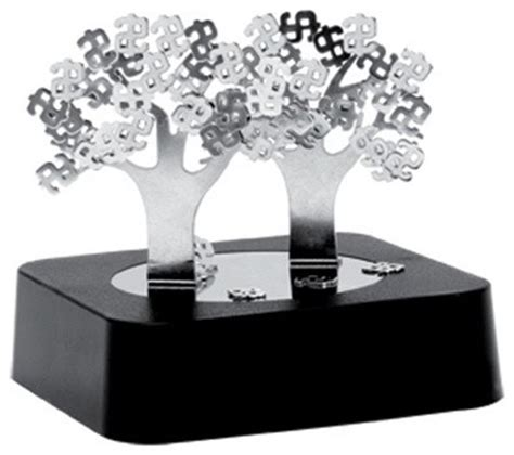 Magnetic Desk Organizer 3 5 Inch Quot Money Tree Quot Themed Magnetic Desk Organizer Black Contemporary Decorative Objects