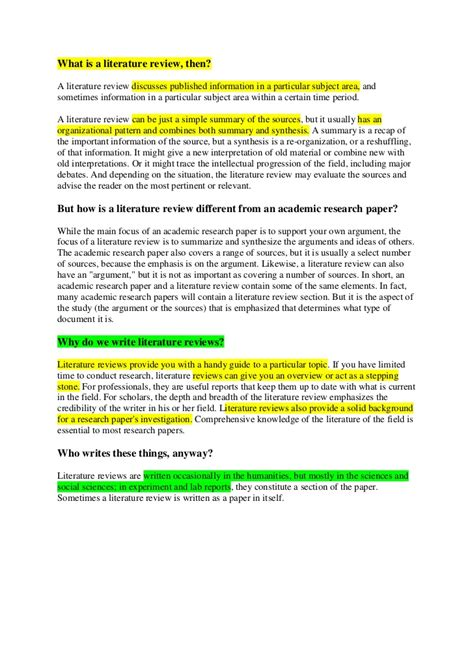 literature review sections literature review section in paper