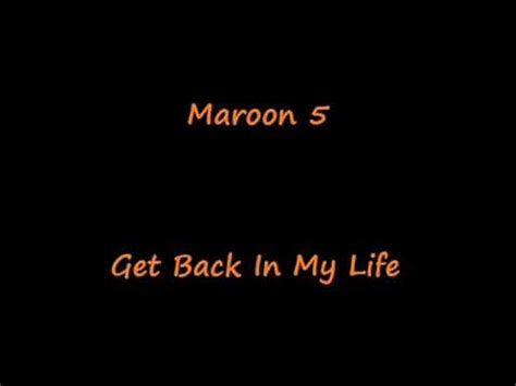 Maroon 5 Is Back by Maroon 5 Get Back In My Mixed