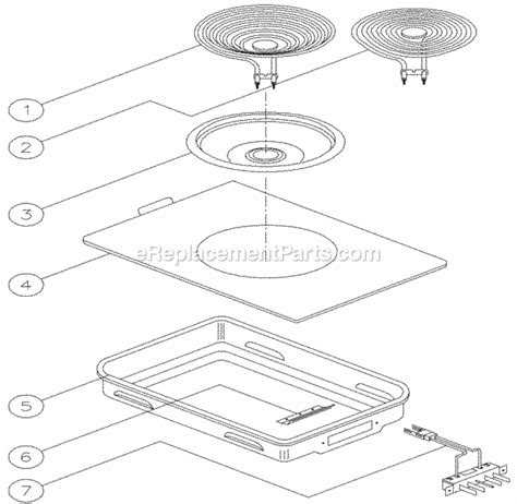 dacor cooktop replacement parts dacor em3 parts list and diagram ereplacementparts
