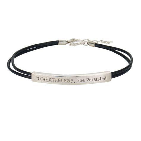 she bracelet nevertheless she persisted bracelet at signals hx3016