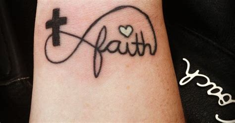 my infinity faith cross tattoo tattoos pinterest