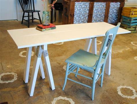 Handmade White Saw Horse Desk By Sb Designs Custommade Com White Sawhorse Desk