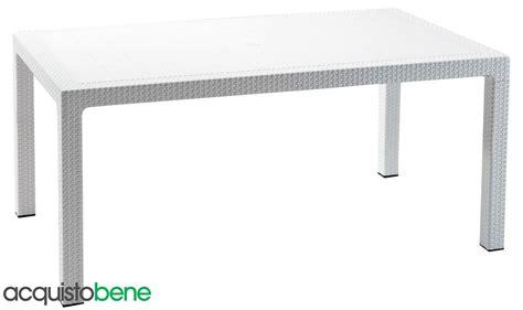 tavolo giardino rattan tavolo da giardino in resina effetto rattan intrecciato bianco