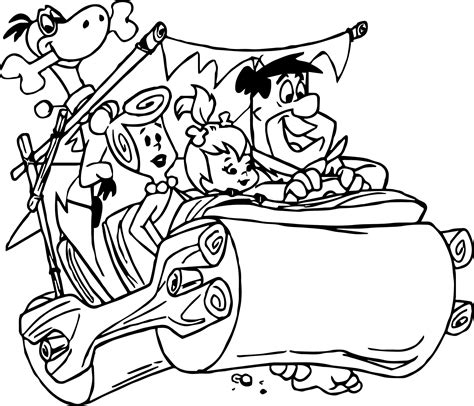 flintstones characters coloring pages coloring pages the flintstones coloring pages wecoloringpage