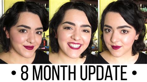 month by month pixie grow out growing out my pixie cut month 8 laura neuzeth youtube