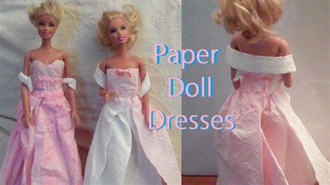 How To Make Doll Clothes With Paper - how to make mini paper dress easy paper craft
