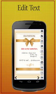 design invitation card app party invitation card maker android apps on google play