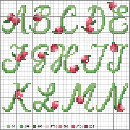 punto croce lettere dell alfabeto punti tecniche bicolori jacquard intarsio entrelac ricamo