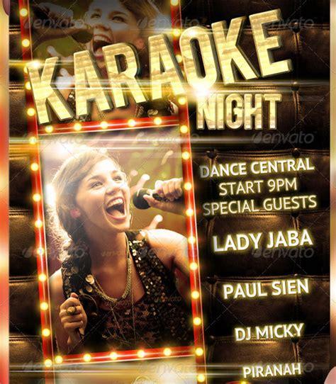 flyer template karaoke night party karaoke night flyer template 18 download in vector eps psd