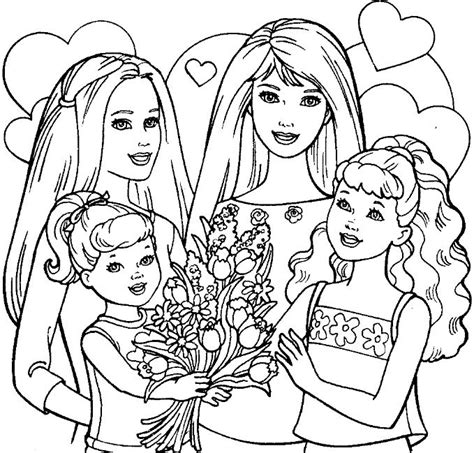 barbie skipper coloring pages barbie sisters coloring pages world knowledge
