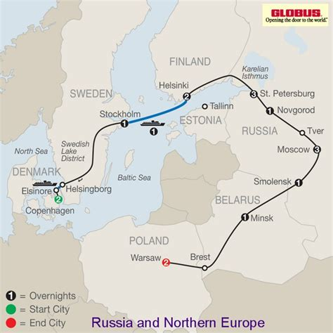 map northern europe russia russia and northern europe 2015 2016 by globus tours