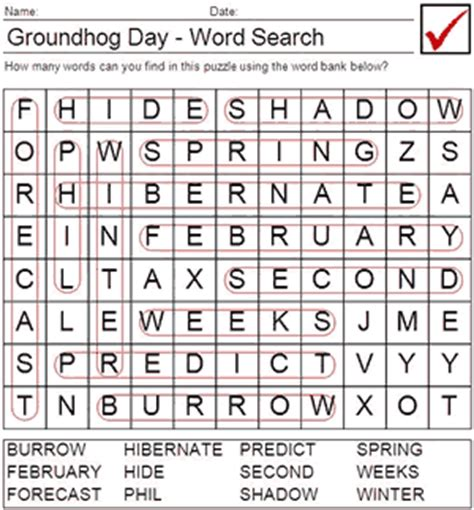 groundhog day viewing worksheet answers groundhog day math worksheets classroom freebies