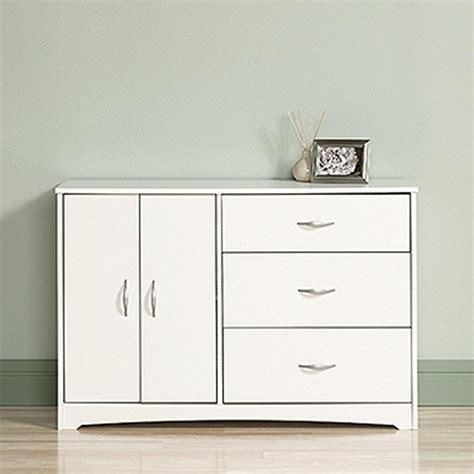 sauder beginnings 3 drawer dresser white sauder beginnings 3 drawer soft white dresser 416350 the