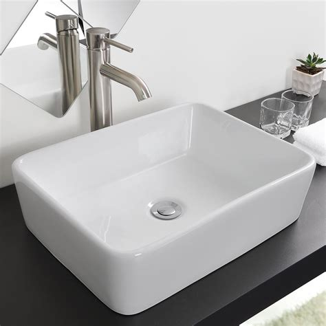 porcelain or ceramic for bathroom bathroom porcelain ceramic vessel sink chrome pop up drain