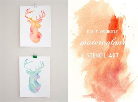 Handmade Stencils - p s diy watercolour stencil