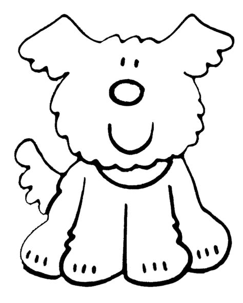 simple dog coloring page kinderpleinen honden kleurplaten