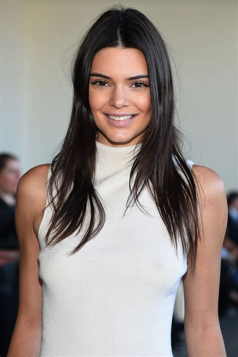 kendall jenner with a kendall jenner calvin klein show new york fashion week