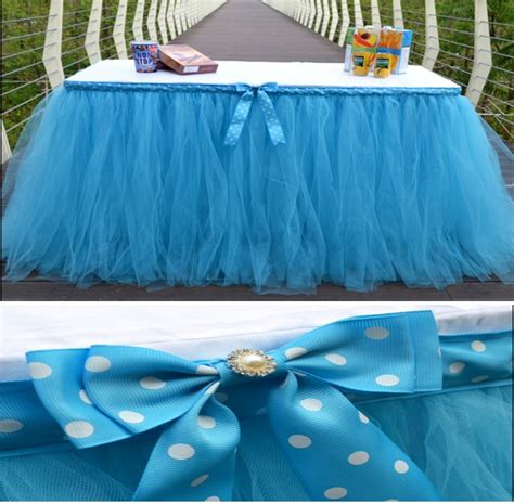 2016 new lovely tulle tutu table skirt baby shower