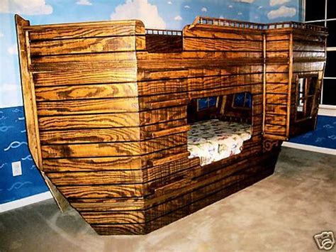 pirate ship bunk bed pirate ship theme children s bed blueprints ebay