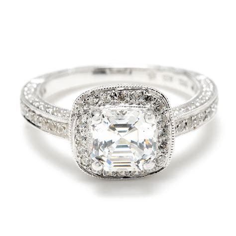 in diamond square a square diamond wedding rings wedding and bridal inspiration