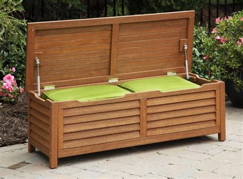 Outdoor Bench With Storage Patio Furniture Storage Bench Roselawnlutheran
