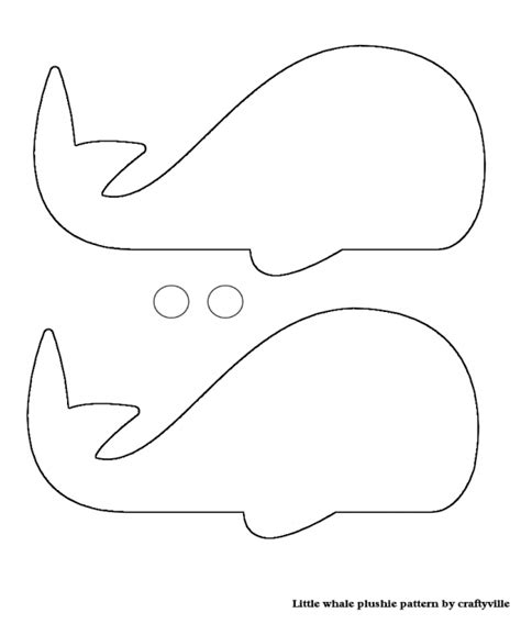 stuffed animal name card template whale pattern photo card template from diy leslie