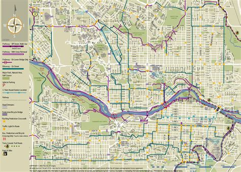 map of canada showing calgary calgary cycling map