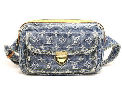 Louis Vuitton Denim Bum Bag by Authentic Louis Vuitton Bum Bag Waist Bag Monogram Denim