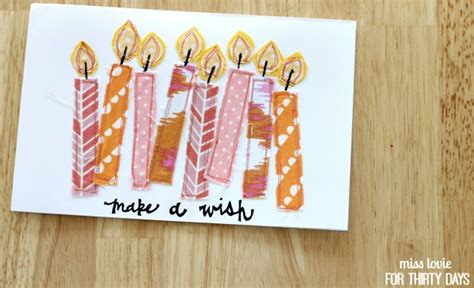 Sewn Cards Handmade - handsewn birthday cards