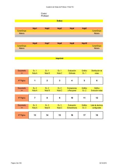 cuaderno de notas del profesor profe tic cuaderno de notas del profesor profe tic profe tic v311
