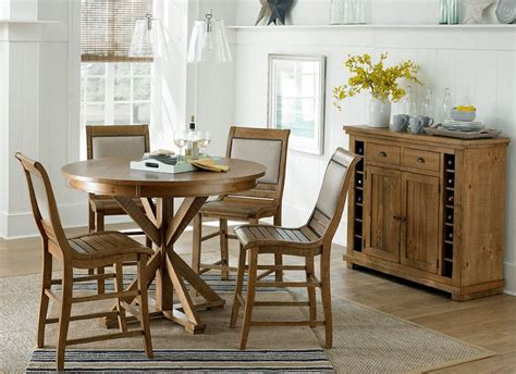 Pine Dining Room Set Willow Distressed Pine Counter Height Dining Room Set