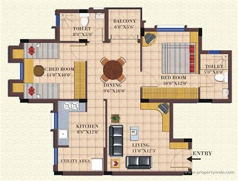 2bhk floor plan landmark dreamz homes abbigere bangalore residential