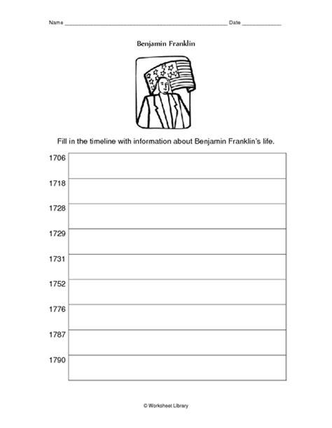 benjamin franklin biography ks2 counting number worksheets 187 timeline worksheets for 5th