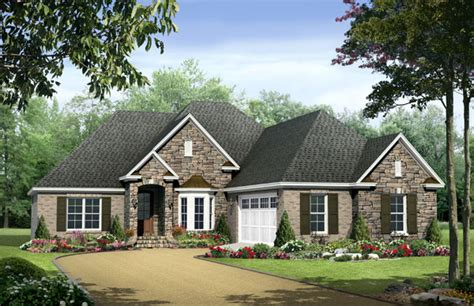 1 story homes european country style one story plans the house designers