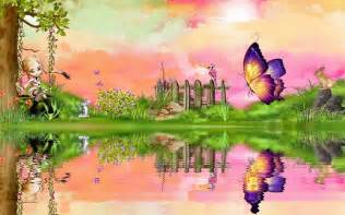 It is beautiful creative image of a girl and butterfly the girl is
