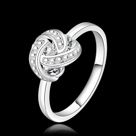 sapphire jewelry 925 sterling silver ring cz fresh