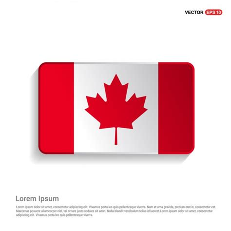 Canadian Flag Template Vector Free Download Canada Flag Template