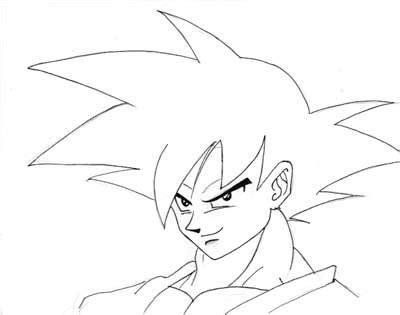 young goku coloring pages en blanco y negro marbal