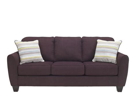 ashley furniture purple couch the ean sofa in purple by ashley furniture 9620138 see it