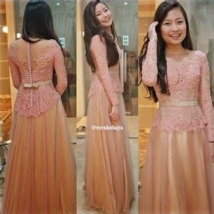 Dress Anak Sabrina Brukat 4y 40 gambar model kebaya wisuda modern lengan panjang dan
