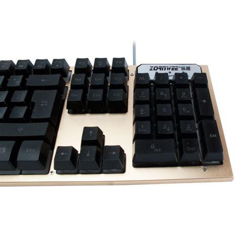 zornwee t19 gaming keyboard usb gold 6061 keyboard
