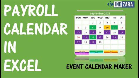 payroll calendar  event calendar maker excel template youtube