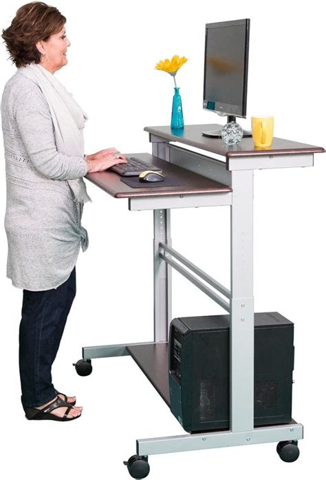 stand up computer desk on wheels the best standing desks with wheels for every budget