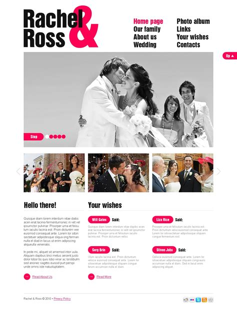 Wedding Album Reviews by Wedding Album Website Template 30015
